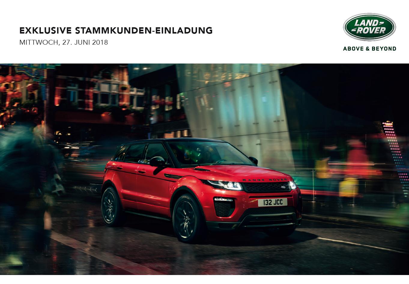 Stammkunden-Verkaufstag für Land Rover