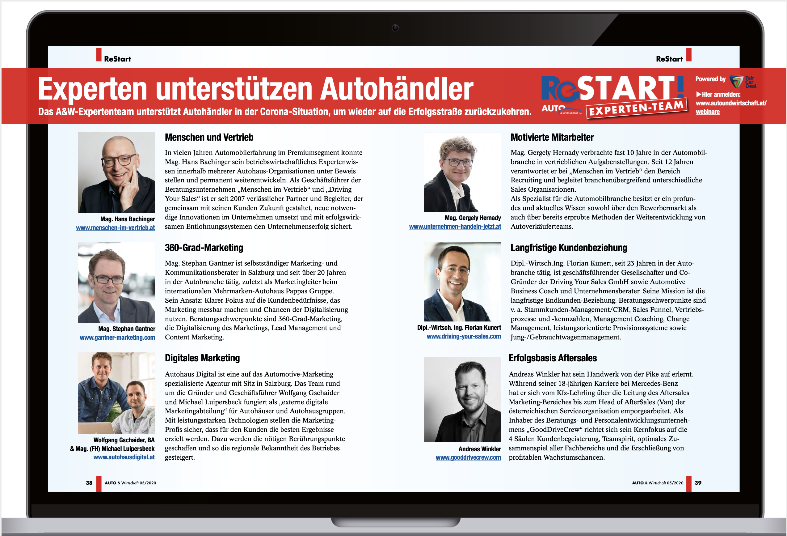ReStart Kampagne gemeinsam mit dem A&W Verlag